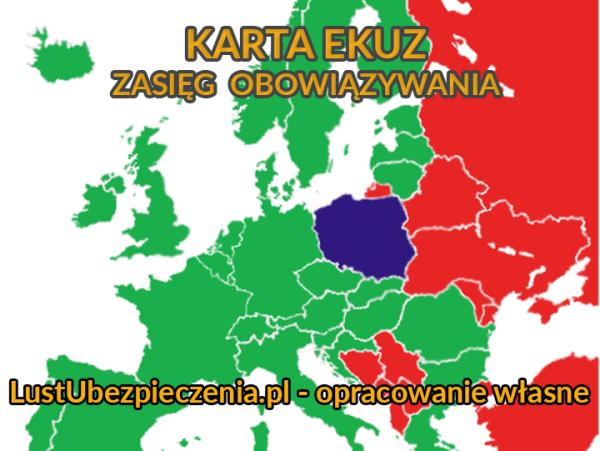 Kraje, w których obowiązuje EKUZ