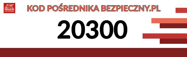 Kod Pośrednika Bezpieczny.pl 20300